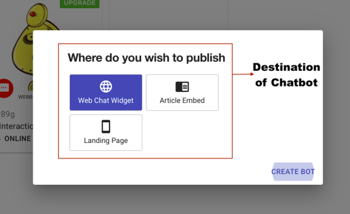 Select a publishing option